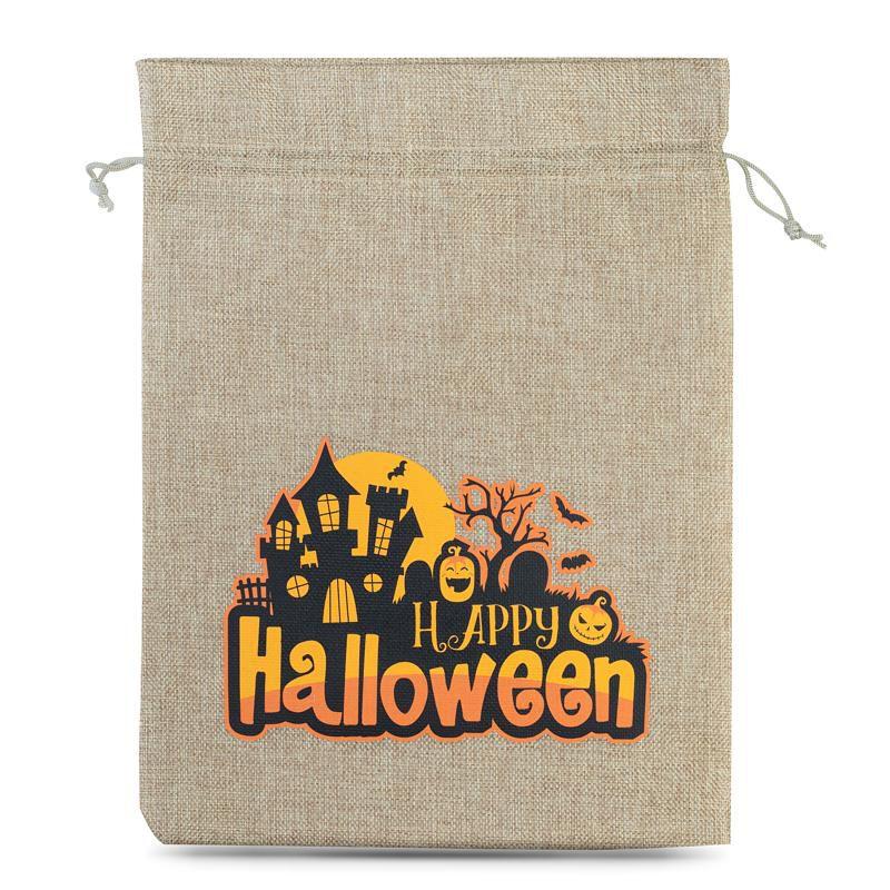 1 stuk Zakjes Halloween 1 / jute, 30 x 40 cm - natuurlijke kleur