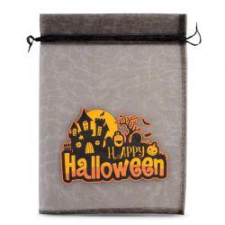 1 stuk Zakjes Halloween 1 / organza, 40 x 55 cm - zwart Ozdobne Woreczki z organzy