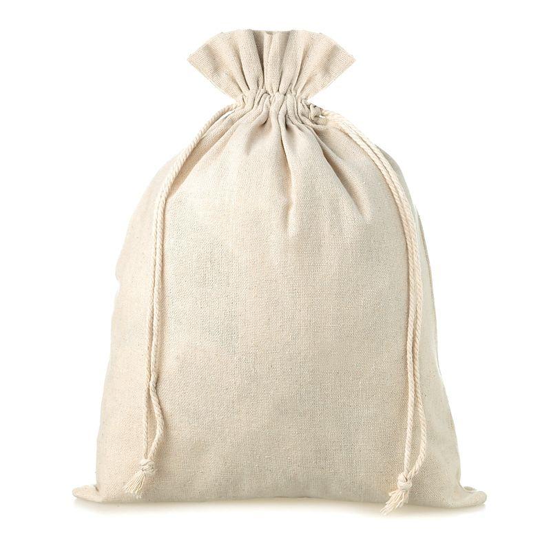 1 stuk Linnen zak 45 x 60 cm - natuurlijke kleur