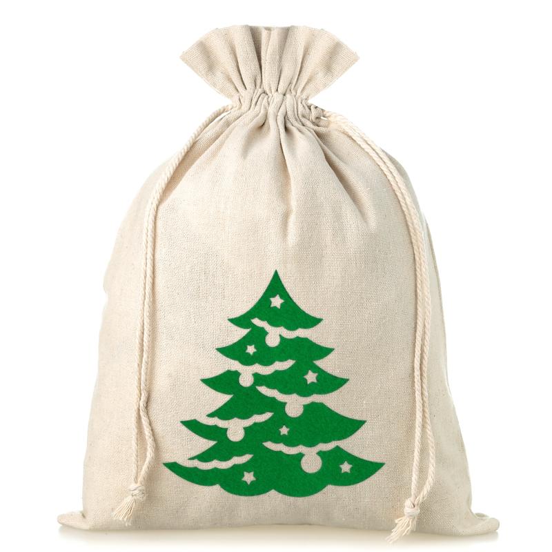 1 Stuk Linnen Zakje 26 X 35 Cm Kerstmis Kerstboom Wereld