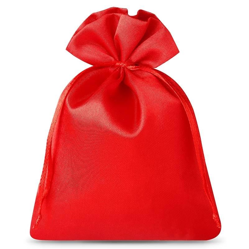 10 stuks Satijnen zakjes 6 x 8 cm - rood