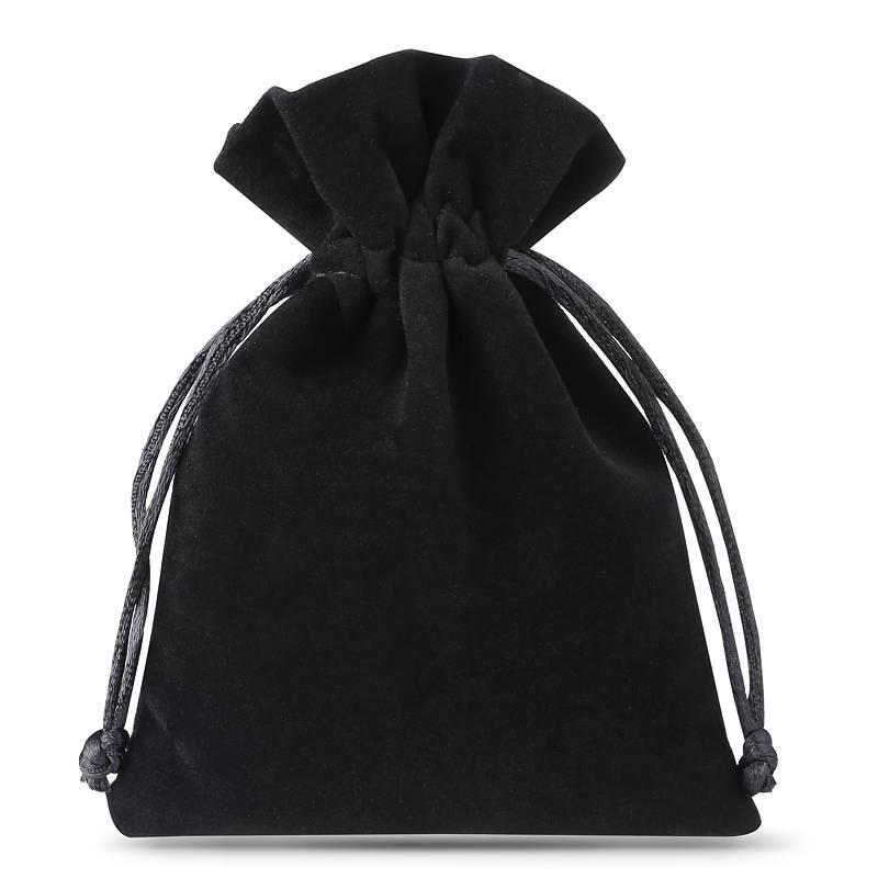 10 stuks Fluwelen zakjes 6 x 8 cm - zwart