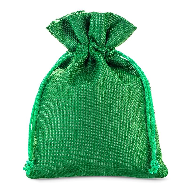 5 stuks Jute zakjes 15 x 20 cm - groen