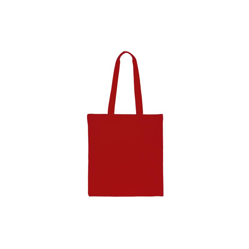 1 st. Een katoenen tas van 38 x 42 cm met lange hengsels - rood