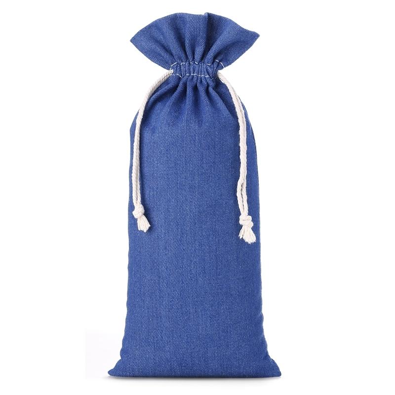 1 stuk Jeans zakje 16 x 37 cm - blauw