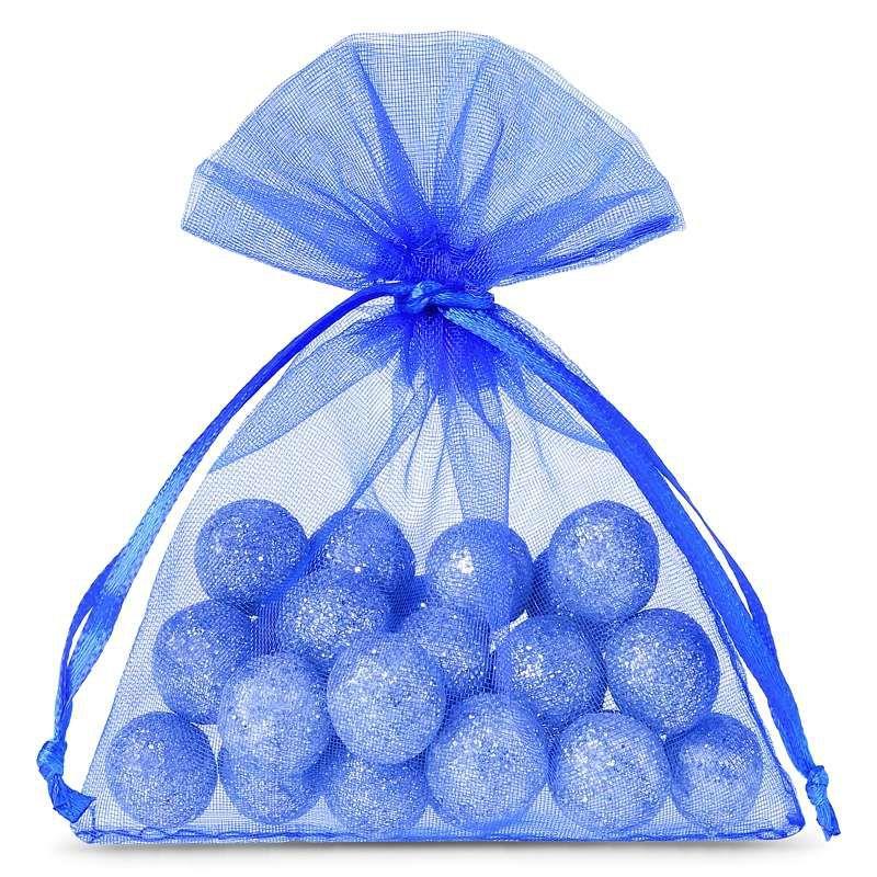 25 stuks Organza zakjes 8 x 10 cm - blauw