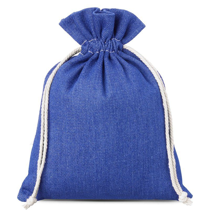 1 stuk Jeans zakje 18 x 24 cm - blauw