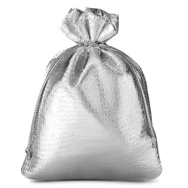 10 stuks Metaalachtige zakjes 10 x 13 cm - zilver metallic