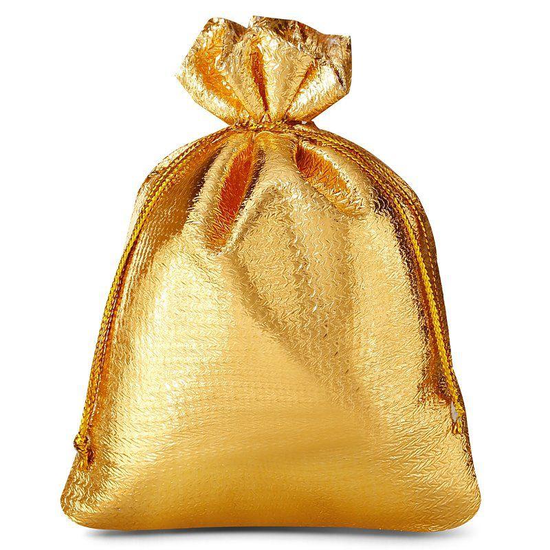 10 stuks Metaalachtige zakjes 10 x 13 cm - goud metallic