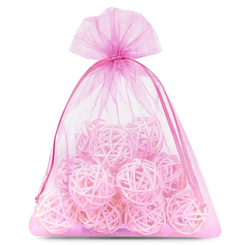10 stuks Organza zakjes 15 x 20 cm - roze