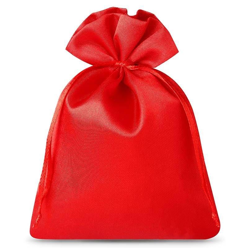 10 stuks Satijnen zakjes 10 x 13 cm - rood