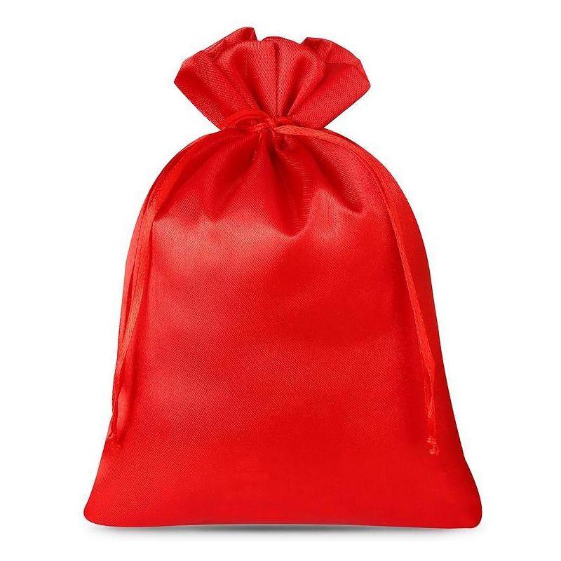 5 stuks Satijnen zakjes 18 x 24 cm - rood