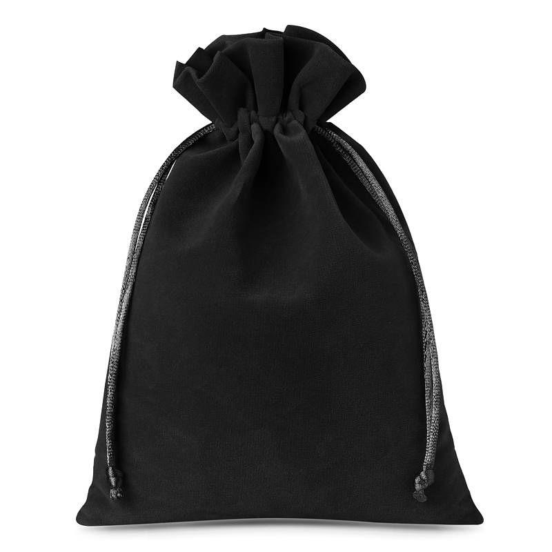 10 stuks Fluwelen zakjes 12 x 15 cm - zwart