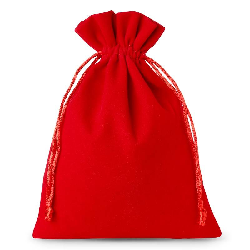 5 stuks Fluwelen zakjes 22 x 30 cm - rood