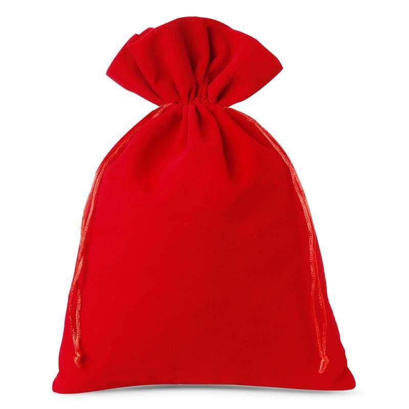 3 stuks Fluwelen zakjes 26 x 35 cm - rood