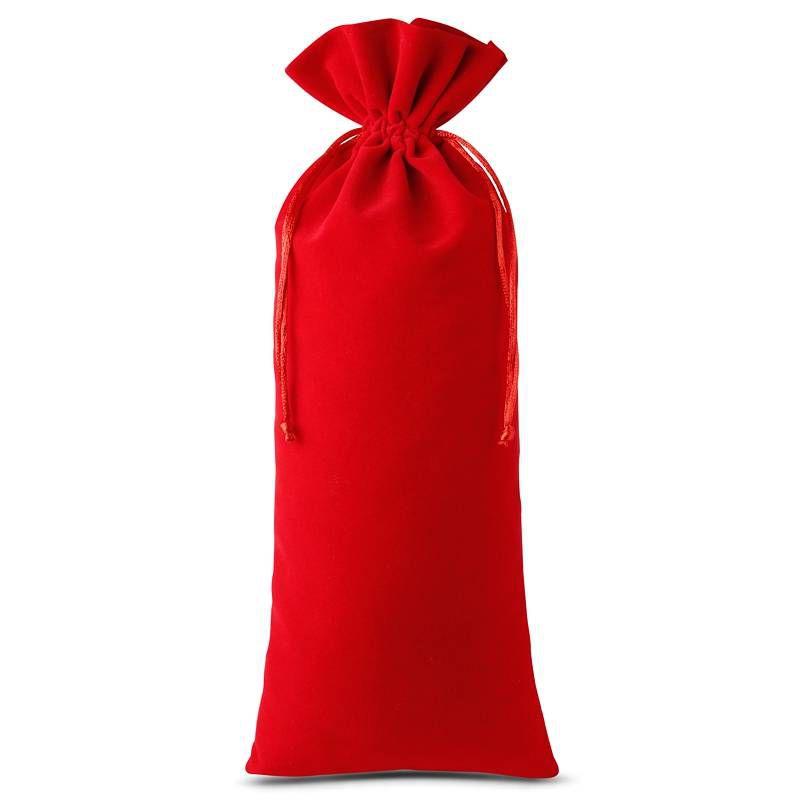1 stuk Fluwelen zakje 16 x 37 cm - rood