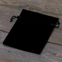 10 stuks Fluwelen zakjes 10 x 13 cm - zwart ....