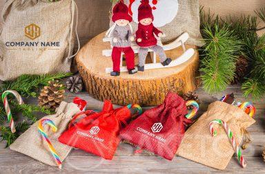 Inspiration for Christmas - using fabric bags as a gift wrap option