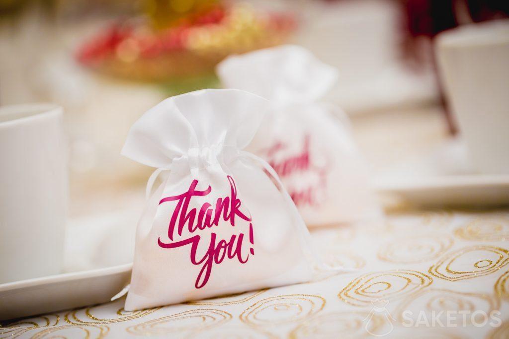 Wedding dank for gasten