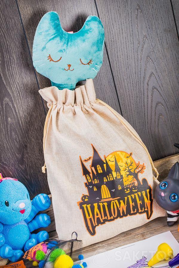 Halloween geschenkzakjes kunnen gebruikt worden als originele decoratie voor een kinderkamer