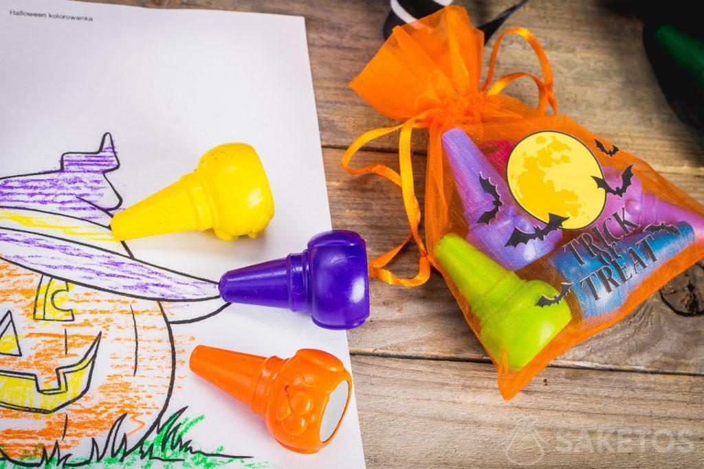 Decoratieve Halloween giftzakjes vormen een geweldige versiering