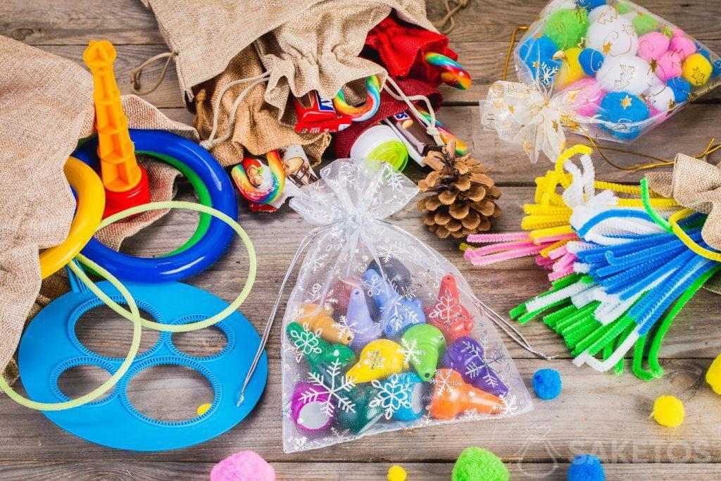 Zakjes zijn ideaal voor het opbergen van speelgoed.