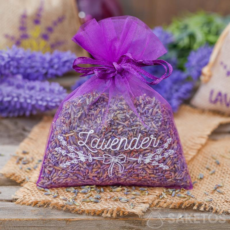 Zakjes van organza zijn ook geschikt als verpakking van lavendel