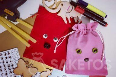Zakjes voor cadeaus versieren - gepersonaliseerde doe-het-zelfverpakkingen