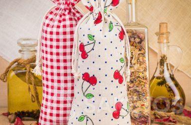 5. Bedrukte linnen zakjes voor het decoreren van keukens