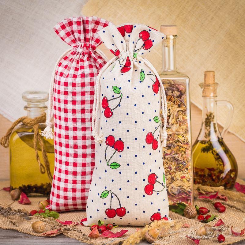 5.Bedrukte linnen zakjes voor het decoreren van keukens