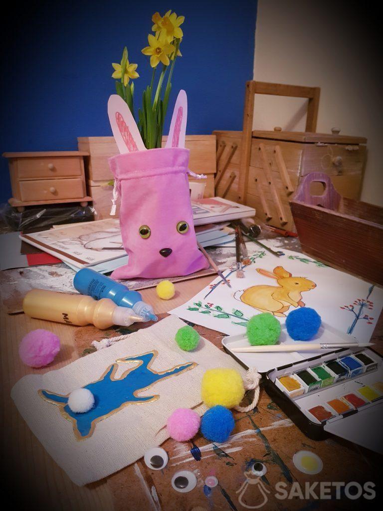 Creatief met je kind - doe-het-zelfzakken voor Pasen