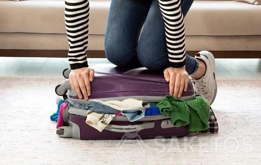 Een slimme manier om een koffer in te pakken.