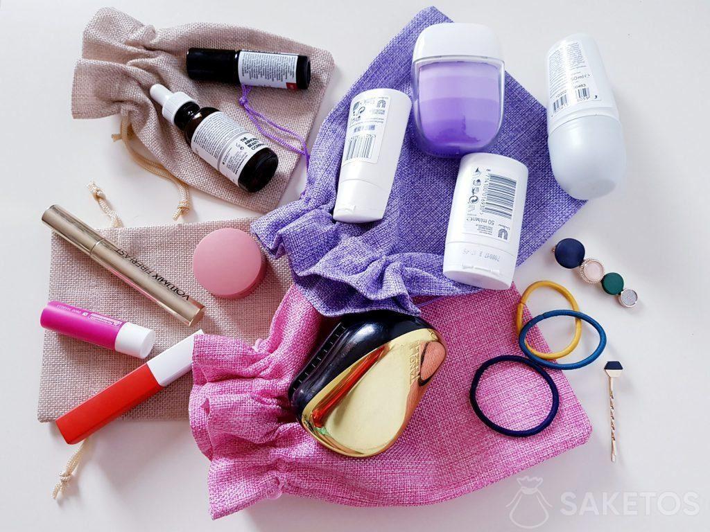 Zakjes om cosmetica te vervoeren
