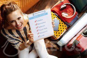 1.Maak een reischecklist voor het inpakken.