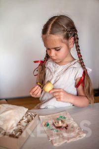 Linnen zakjes om te decoreren - handgemaakte spelletjes voor kinderen