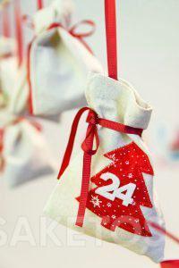 adventskalender met cadeauzakjes