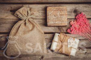Als verpakking voor handgemaakte zeep