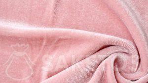 1.Velours stof in een roze kleur