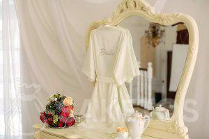 Deze stof is perfect voor een bruiloft en receptie